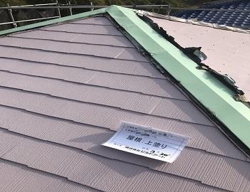 屋根上塗り