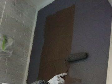 外壁➀上塗り