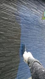 外壁バルコニー部上塗り