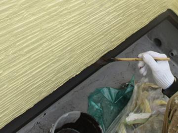 土台水切り上塗り