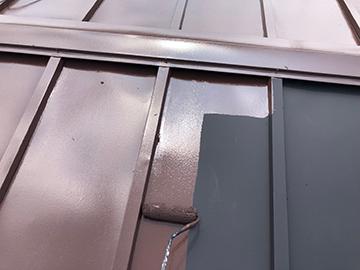 上屋根:中塗り