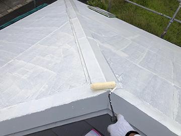 屋根:中塗り