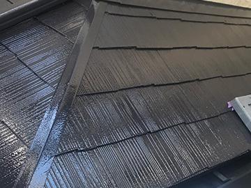 下屋根上塗り