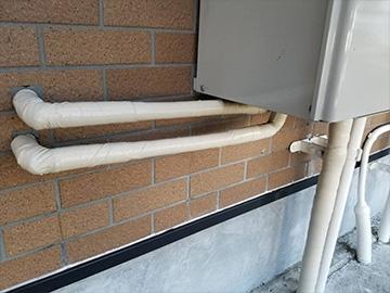ガス管ホース補修後
