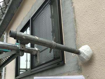 外壁:玉吹き前