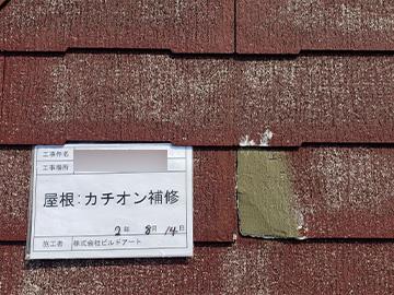 屋根:カチオン補修後