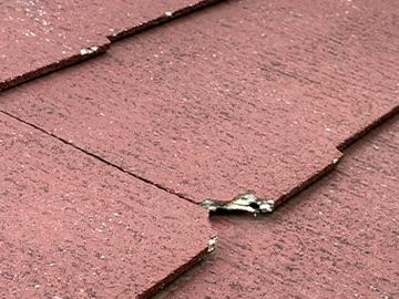 屋根:カチオン補修前