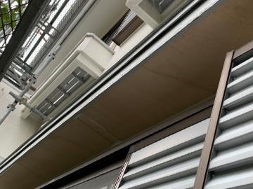 軒天井:ベニヤ板交換