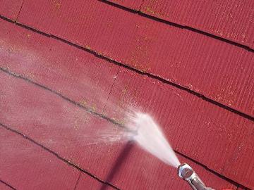 屋根:洗浄