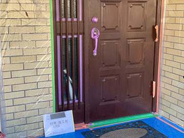玄関ドア:施工前